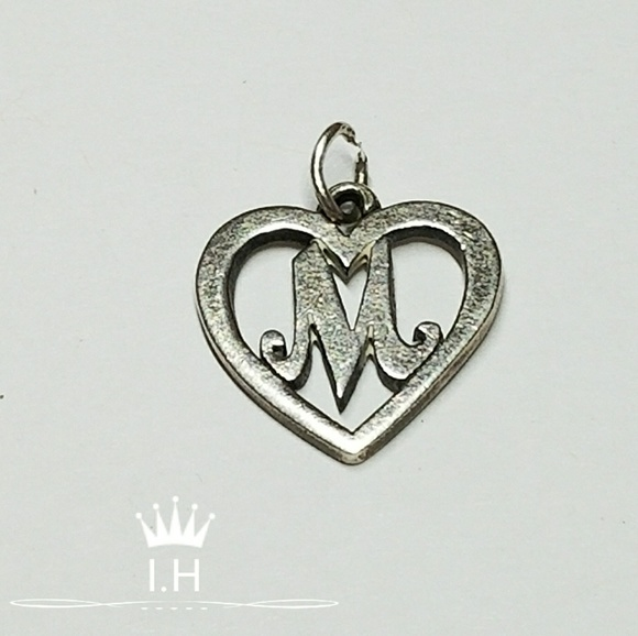 James Avery Initial Heart M Charm Retired
